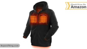ORORO Heated Hoodie with Battery Pack Black Jacket